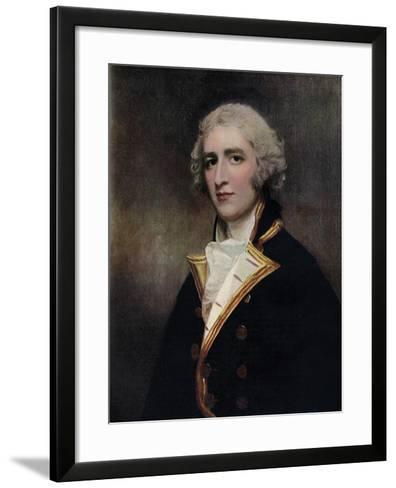 Captain William Bentinck (1764-181), Naval Commander, 1787-1788-George Romney-Framed Art Print