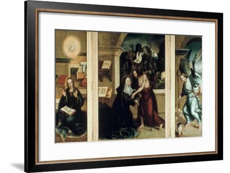 Appearance of Christ to the Virgin, 1531-Garcia Fernandes-Framed Art Print