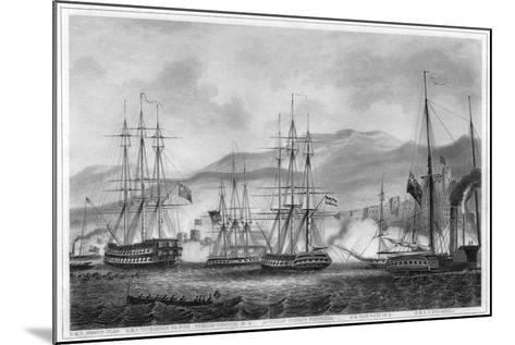 Attack on Sidon by Commodore Charles Napier, 26 September 1840-George Greatbatch-Mounted Giclee Print