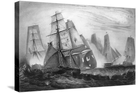 Intrepid Behaviour of Captain Charles Napier, 15 April 1809-George Greatbatch-Stretched Canvas Print