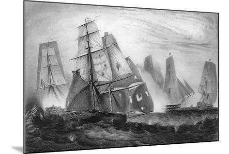 Intrepid Behaviour of Captain Charles Napier, 15 April 1809-George Greatbatch-Mounted Giclee Print