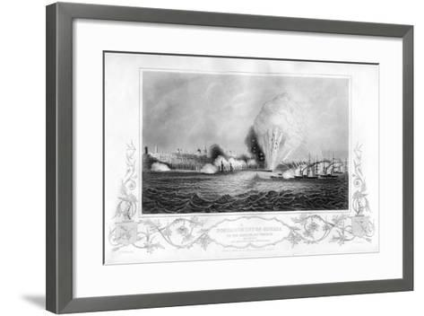 The Explosion of the 'Imperial Mole' During the Bombardment of Odessa, Ukraine, 1854-George Greatbatch-Framed Art Print