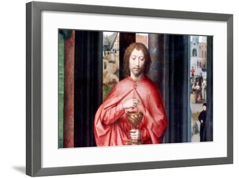 Mystic Marriage of St. Catherine and Other Saints, Detail, C1453-1494-Hans Memling-Framed Art Print