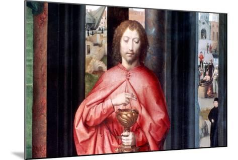 Mystic Marriage of St. Catherine and Other Saints, Detail, C1453-1494-Hans Memling-Mounted Giclee Print