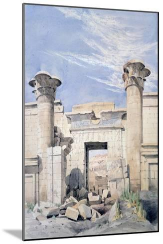 Entrance to the Temple of Ramses Iii, Egypt, 19th Century-GF Weston-Mounted Giclee Print
