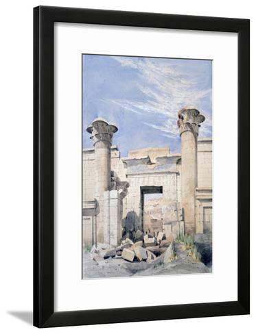 Entrance to the Temple of Ramses Iii, Egypt, 19th Century-GF Weston-Framed Art Print