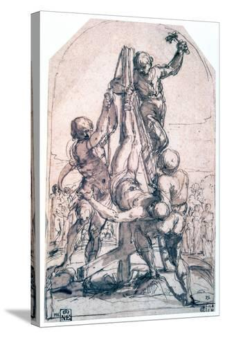 Crucifixion of St Peter, C1600-1642-Guido Reni-Stretched Canvas Print