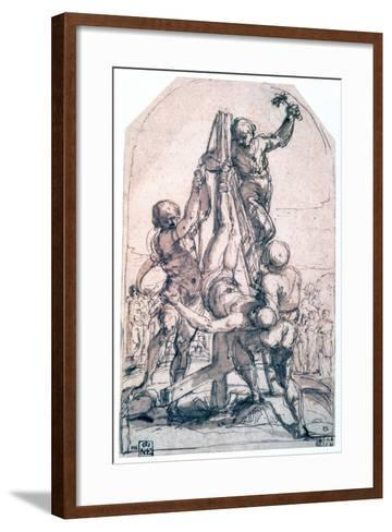 Crucifixion of St Peter, C1600-1642-Guido Reni-Framed Art Print