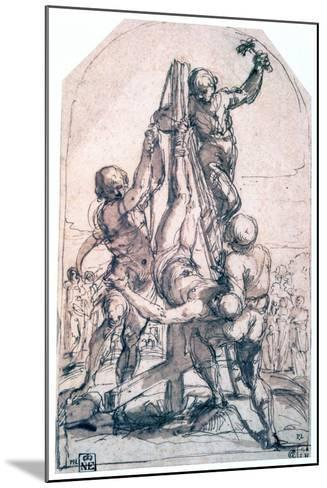 Crucifixion of St Peter, C1600-1642-Guido Reni-Mounted Giclee Print
