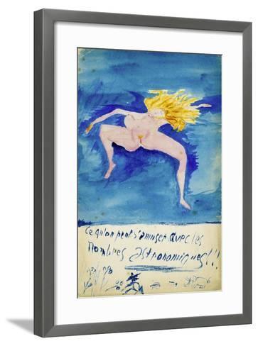 Ce Qu'On S'Amuser Aved Les Nombres Astronomiques!!, C1914-Guillaume Apollinaire-Framed Art Print