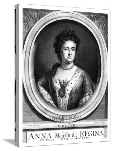 Anne, Queen of Great Britain and Ireland-George Vertue-Stretched Canvas Print