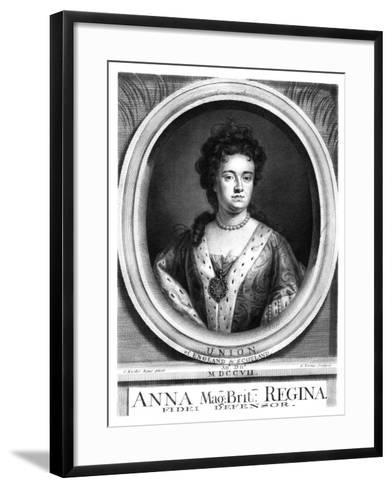 Anne, Queen of Great Britain and Ireland-George Vertue-Framed Art Print