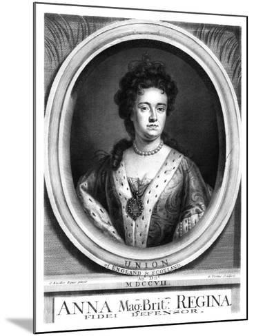 Anne, Queen of Great Britain and Ireland-George Vertue-Mounted Giclee Print