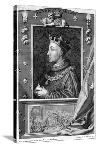 Henry V, King of England-George Vertue-Stretched Canvas Print