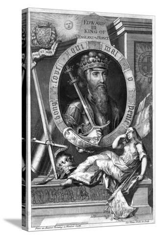 King Edward III of England, (18th Centur)-George Vertue-Stretched Canvas Print
