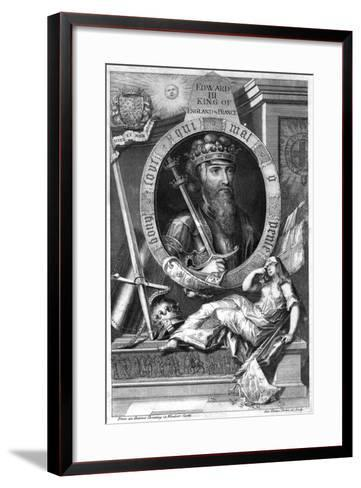 King Edward III of England, (18th Centur)-George Vertue-Framed Art Print