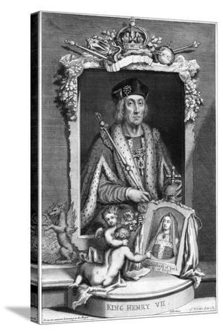 Henry VII of England, (18th Centur)-George Vertue-Stretched Canvas Print