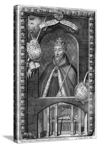 John of Gaunt, 1st Duke of Lancaster, (18th Centur)-George Vertue-Stretched Canvas Print