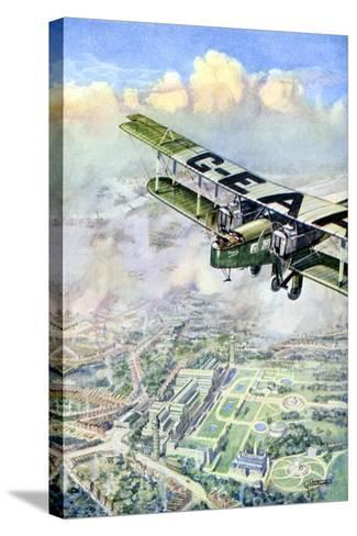 An Aeroplane over London, 1926-GH Davis-Stretched Canvas Print