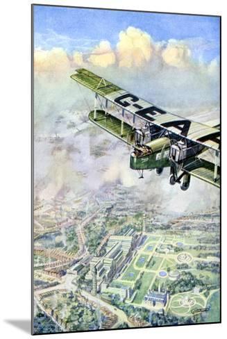 An Aeroplane over London, 1926-GH Davis-Mounted Giclee Print