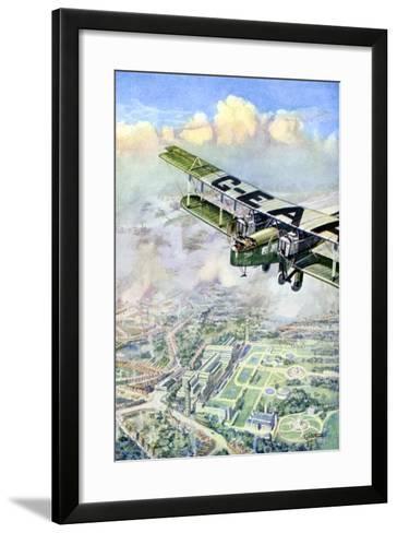 An Aeroplane over London, 1926-GH Davis-Framed Art Print