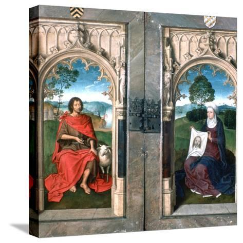 Triptych of Jan Florain, 1479-Hans Memling-Stretched Canvas Print