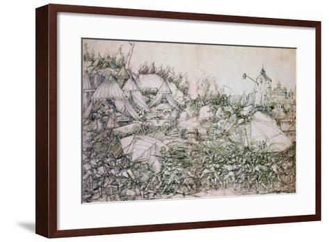 The History of Judith and Holofernes, 16th Century-Hans Springinlee-Framed Art Print