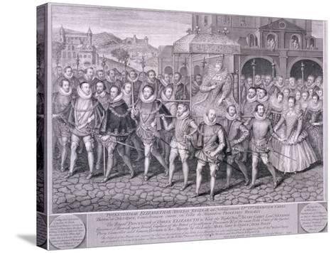 Procession of Queen Elizabeth I to Blackfriars, London, 16 June 1600-George Vertue-Stretched Canvas Print