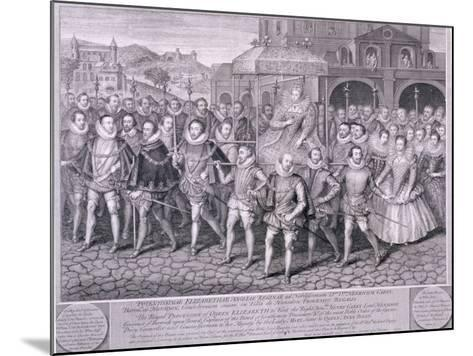 Procession of Queen Elizabeth I to Blackfriars, London, 16 June 1600-George Vertue-Mounted Giclee Print