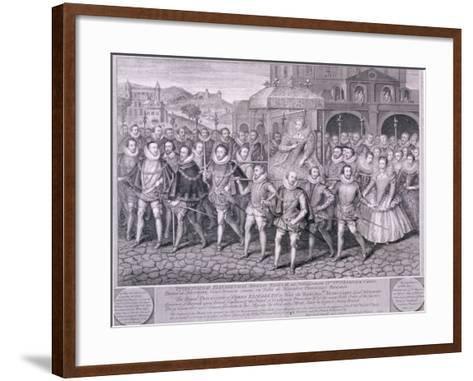 Procession of Queen Elizabeth I to Blackfriars, London, 16 June 1600-George Vertue-Framed Art Print