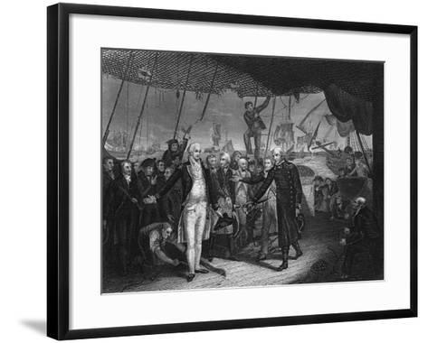 Admiral De Winter Resigning His Sword on Board the 'Venerable, 11 October 1797-H Lemon-Framed Art Print