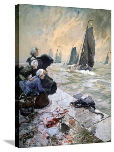 The Fisherman's Wifes, 1896-Hans Von Bartels-Stretched Canvas Print