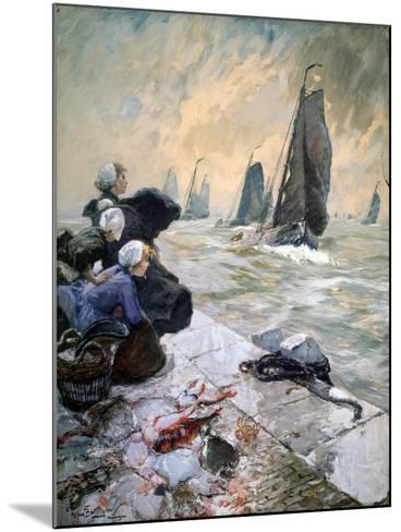 The Fisherman's Wifes, 1896-Hans Von Bartels-Mounted Giclee Print