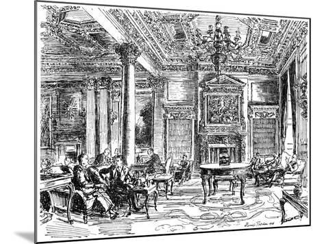 The Members' Lounge, Rac Clubhouse, Pall Mall, London, 1946-Hanslip Fletcher-Mounted Giclee Print