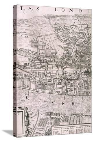 Map of London, 1560-George Vertue-Stretched Canvas Print