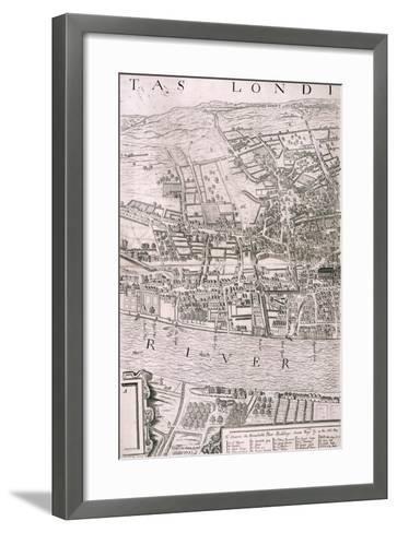 Map of London, 1560-George Vertue-Framed Art Print