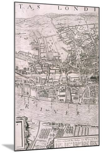 Map of London, 1560-George Vertue-Mounted Giclee Print