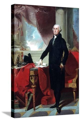 George Washington (1732-9), 1796-Gilbert Stuart-Stretched Canvas Print