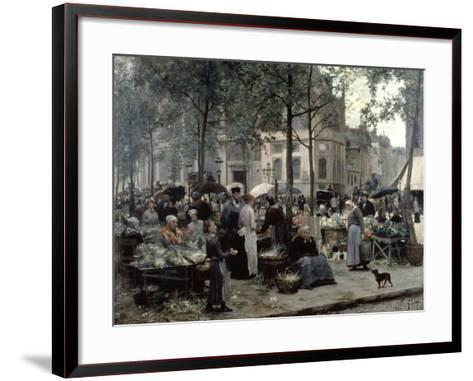 Les Halles, Paris 'Central Market', 1880-Gilbert Victor Gabriel-Framed Art Print