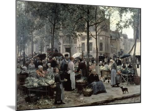 Les Halles, Paris 'Central Market', 1880-Gilbert Victor Gabriel-Mounted Giclee Print