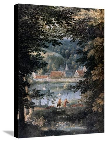 Landscape, 16th Century-Gillis van Coninxloo-Stretched Canvas Print