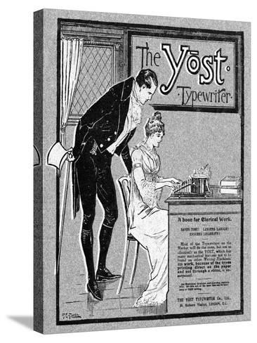 Advertisement for the Yost Typewriter, 1901- Glover-Stretched Canvas Print