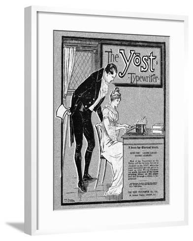 Advertisement for the Yost Typewriter, 1901- Glover-Framed Art Print