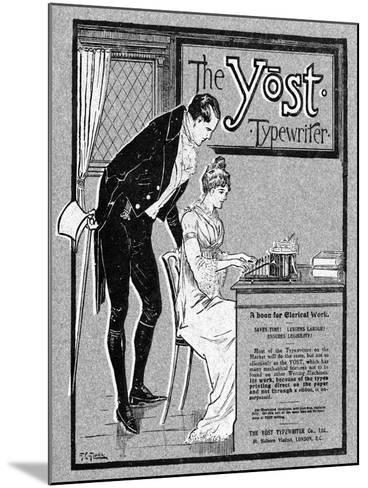Advertisement for the Yost Typewriter, 1901- Glover-Mounted Giclee Print