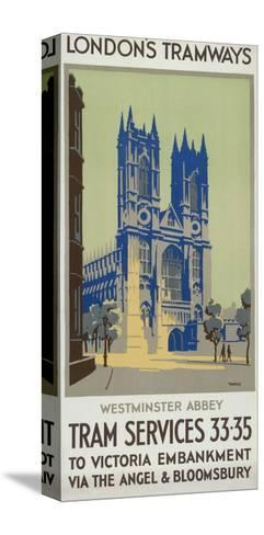 Westminster Abbey, London County Council (LC) Tramways Poster, 1926-GM Norris-Stretched Canvas Print