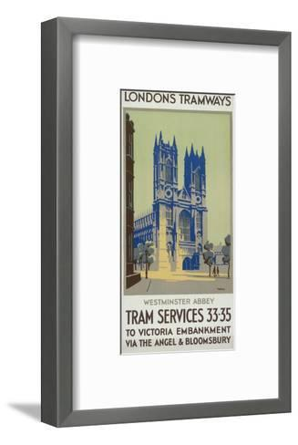 Westminster Abbey, London County Council (LC) Tramways Poster, 1926-GM Norris-Framed Art Print