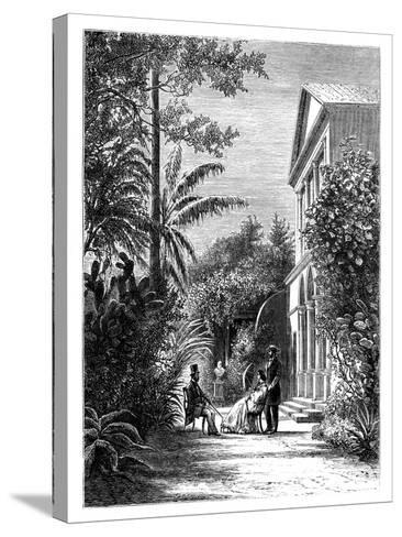 The Garden of a City House, 19th Century-H Stock-Stretched Canvas Print