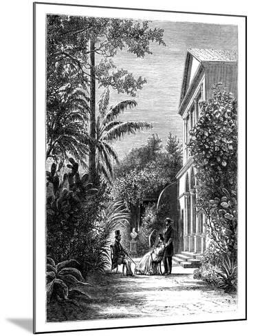 The Garden of a City House, 19th Century-H Stock-Mounted Giclee Print