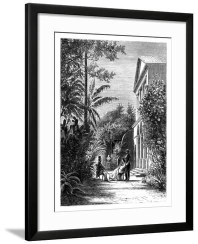 The Garden of a City House, 19th Century-H Stock-Framed Art Print