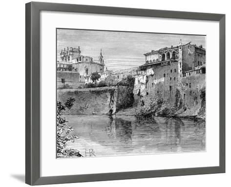 Villa Farnese, Province of Viterbo, North-West of Rome, Italy, 19th Century-Henri Alexandre Georges Regnault-Framed Art Print